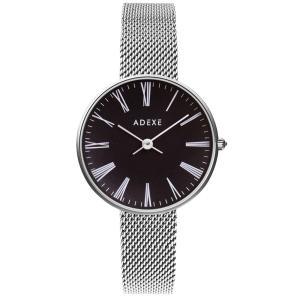ADEXE 2503M-05  ロンドン ブランド 国内正規品  シルバー / ブラック  PETITE スタンダード 33mm レディース 腕時計 インスタ映えマスト|watchcrash