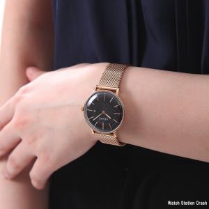 ADEXE アデクス 2043A-05 国内正規品 レディース 腕時計 PETITE 33mm ローズゴールド/ブラック インスタ映えマスト!|watchcrash