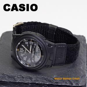 CASIO デジアナ チープカシオ スポーツ ウォッチ ブラック ベルクロ ベルト テレメモ アラーム ストップウォッチ aw-80v-1b メンズ カジュアル 腕時計|watchcrash