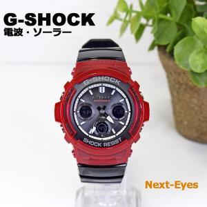 5年保証【電波ソーラー マルチ6バンド】G-SHOCK AWG-M100SRB-4A 標準電波受信 アナデジ スペシャルカラー レッド ブラック 腕時計 メンズ|watchcrash