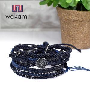 wakami ワカミ 日本正規品 bc17006 ネイビー ブラック アースブレスレット 7本セット(送料無料) watchcrash