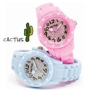 【日本正規品】CACTUS カクタス CAC-91-L  ブルー・ピンク  ラメ キッズ KIDS 女の子 子供用 キッズ時計 腕時計|watchcrash