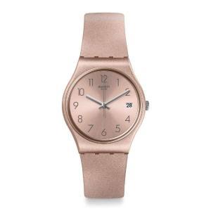 swatch(スウォッチ) GP403 GENTシリーズ PINKBAYA ピンクバヤ ローズゴールドカラー プチプラ 34mm レディース 腕時計|watchcrash