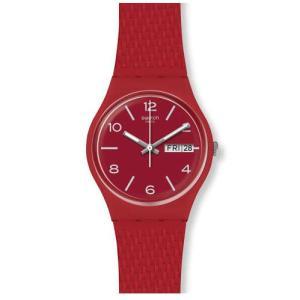 swatch(スウォッチ) GR710 GENTシリーズ LAZERED レーザード レッド プチプラ 34mm レディース 腕時計|watchcrash