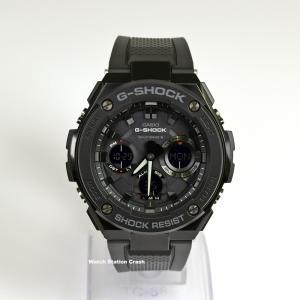 (電波ソーラー)G-STEEL G-SHOCK カシオ GST-W100G-1B GST100G-1B (電池交換不要) ブラック デジアナ メンズ 腕時計|watchcrash