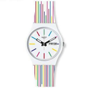swatch(スウォッチ)  カラフルなストライプ  WHITE SAMBA GW712 メンズ / レディース 腕時計 [日本正規品] watchcrash