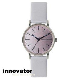 【北欧ブランド】イノベーター innovator エンケル ENKEL シリーズ IN-0006-2 シルバー×ピンク ホワイト カーフベルト 32mm 腕時計 レディース 女性 watchcrash