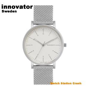 【北欧ブランド】イノベーター innovator エンケル ENKEL IN-0007-16 シルバー× ネイビーメッシュ 38mm 腕時計 メンズ レディース ビジネス watchcrash