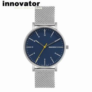 【北欧ブランド】イノベーター innovator エンケル ENKEL IN-0007-5 シルバー× ネイビーメッシュ 38mm 腕時計 メンズ レディース ビジネス watchcrash
