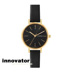 【北欧ブランド】イノベーター innovator エンケル シリーズ IN-0008-13 ゴールドケース ブラック ダイヤル 32mm 腕時計 レディース watchcrash