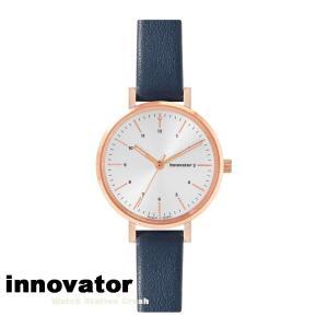 【北欧ブランド】イノベーター innovator エンケル シリーズ IN-0008-15 ローズゴールドケース シルバーダイヤル ネイビーストラップ 32mm 腕時計 レディース watchcrash