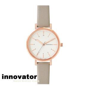 (北欧ブランド)innovator ENKEL シリーズ IN-0008-20 ローズゴールドケース グレーダイヤル グレートラップ 32mm 腕時計 レディース watchcrash