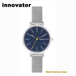 (北欧ブランド) innovator ENKEL シリーズ IN-0008-5  シルバー×ネイビー メッシュベルト 32mm 腕時計 レディース ビジネス カジュアル スタイルを選ばない watchcrash