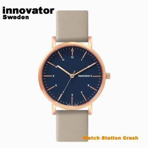 【北欧ブランド】イノベーター innovator エンケル ENKEL IN-0007-20 ローズゴールド × ネイビー グレー 本革ベルト 38mm 腕時計 メンズ レディース|watchcrash