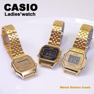 カシオ 腕時計 レディース デジタル ゴールド チープカシオ チプカシ LA680WGA-1B LA680WGA-9 LA680WGA-9B 送料無料 / BOX無し /メール便|watchcrash