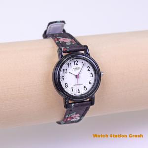 (送料無料)CASIO アナログ チープカシオ ピチプラ レディース 女の子 腕時計 LQ139LB-1B2 ブラック フラワー 花柄|watchcrash