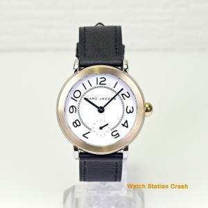 レディース 腕時計 MARC JACOBS MJ1514 マークジェイコブス Riley 36mm レディース ブランド ゴールド ホワイト ダイヤル ブラック カーフベルト|watchcrash