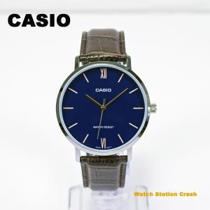 CASIO カシオ 日本未発売  チープカシオ チプカシ プチプラ ネイビー ブラウン MTP-VT01L-2B  メンズ レディース  腕時計 BOXなし メール便(ネコポス便)|watchcrash