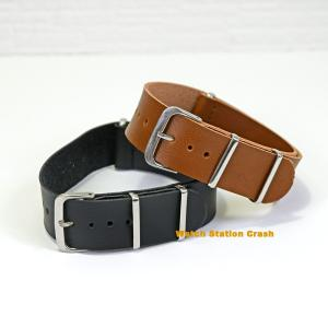 Natoタイプ 腕時計用 交換バンド TIMEX SEIKO CASIO...etc ストラップ フェイクレザー ベルト 20mm ブラウン ブラック メール(郵便)で発送|watchcrash