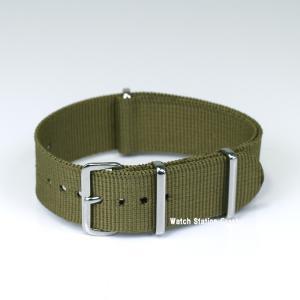時計ベルト TIMEX SEIKO CASIO...etc  バンドNATOタイプ・ナイロンストラップ オリーブ 腕時計用 交換 20mm(送料無料)メール便(郵便)で発送|watchcrash