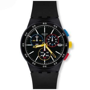 (NEW MODEL)Lswatch(スウォッチ) 腕時計 メンズ BLACK-ONE  SUSB416 クロノグラフ|watchcrash