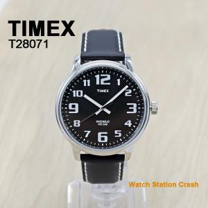 【送料無料】タイメックス  BIG EASY READER T28071 黒 ブラック 革ベルト 男性 メンズ 腕時計イージー リーダー カジュアル アナログ BOXなし|watchcrash