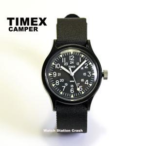腕時計 メンズ TIMEX キャンパー(復刻版)ブラック ミリタリー ナイロンベルト TW2R13800 (tw2r138)|watchcrash