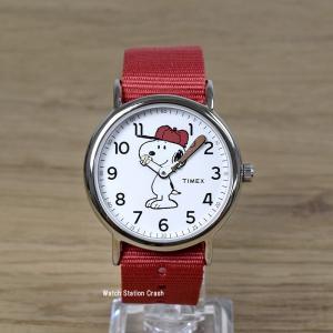 SNOOPY スヌーピー 腕時計 TW2R41400 アメリカ限定モデル TIMEX タイメックス レッド メンズ レディース|watchcrash