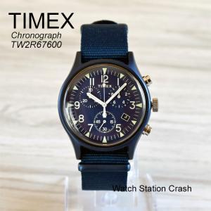 腕時計 メンズ クロノグラフ TIMEX MK1 ネイビー アルミニウム TW2R67600 日本正規品|watchcrash