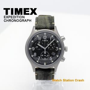 腕時計 メンズ クロノグラフ TIMEX MK1 スティール 日本正規品 ミリタリー カーキ TW2R68600 ビジネス カジュアル スタイル|watchcrash