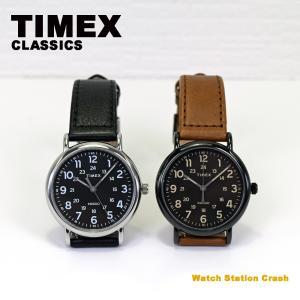 TIMEX ウィークエンダー 40mm ブラック TW2T30500 TW2T30700 革ベルト ストラップ メンズ レディース ブランド 腕時計|watchcrash
