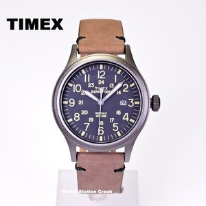 腕時計 メンズ TIMEX TW4B01700 本革 ミリタリー エクスペディション スカウト BOXなし メール便|watchcrash