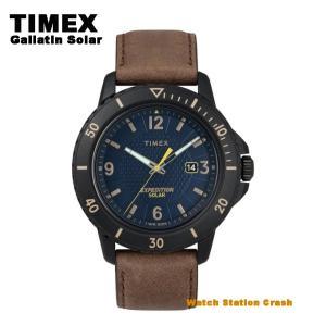 【ソーラー メンズ 腕時計】TIMEX タイメックス TW4B14600 ガラティンソーラー アメリカ製レザー ブラウン アナログ 45mm|watchcrash