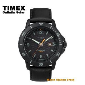 【ソーラー腕時計】 TIMEX タイメックス  Gallatin Solar ガラティンソーラー  TW4B14700  アメリカ製レザー アナログ 45mm 腕時計 メンズ|watchcrash