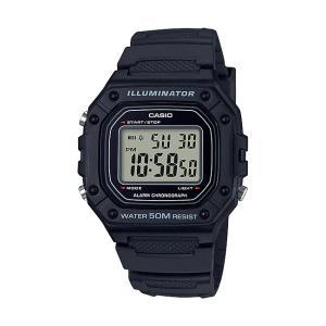 【10年保証】【送料無料】CASIO W-218H-1A デジタル ブラック 腕時計 メンズ レディース キッズ 子供 男の子 女の子 チープカシオ チプカシ カレンダー watchcrash
