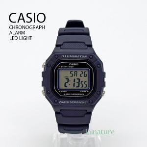 【10年保証】【送料無料】CASIO W-218H-2A デジタル ネイビー 腕時計 メンズ レディース キッズ 子供 男の子 女の子 チープカシオ チプカシ カレンダー|watchcrash