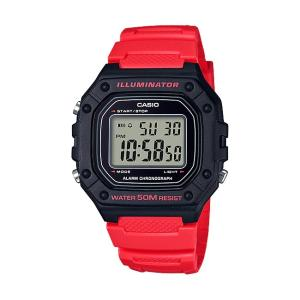 【10年保証】【送料無料】CASIO W-218H-4A デジタル レッド 腕時計 メンズ レディース キッズ 子供 男の子 女の子 チープカシオ チプカシ カレンダー watchcrash