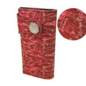 機動戦士ガンダム レザー ウォレット シャアザク 迷彩柄 長財布 財布 ケース グッズ シャア|watchers