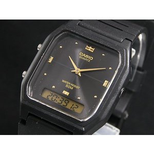 カシオ CASIO アナデジ クオーツ 腕時計 AW48HE-1A ブラック/ブラック|watchlist