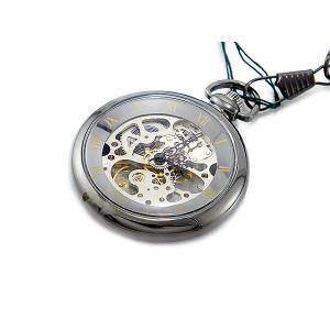 ブラウン BROWN 手巻き 懐中時計 925J-BK-SV|watchlist