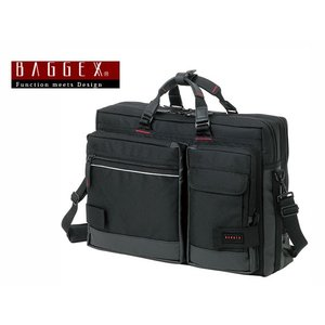 バジェックス BAGGEX 3WAY ビジネスバッグ メンズ 23-5515-10 ブラック watchlist