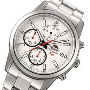 オリエント ORIENT クロノ クオーツ メンズ 腕時計 SKU00003W ホワイト|watchlist