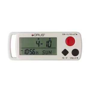 グルス GRUS 心拍計付歩幅計 ランニング ストップウォッチ GRS002-01 ホワイト|watchlist