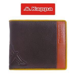 カッパ Kappa ジガンテ ユニセックス ベラ付き 二つ折り短財布 4KP0003-CC ブラウン|watchlist