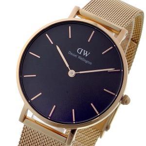 ダニエル ウェリントン クラシックペティート メルローズ/ブラック  レディース 32mm 腕時計 ...