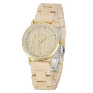 9256a504fd ビーウェル BEWELL ウッドウォッチ 木製腕時計 女性用 腕時計 レディース ウォッチ ベージュ W163AL1
