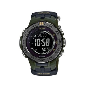 CASIO プロトレック メンズ 腕時計 電波ソーラー トリプルセンサーVer.3 PRW-3100G-3JR替えバンド付