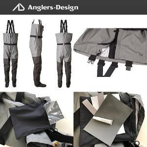 アングラーズデザイン チェストハイウェーダーフロントジップ ADW-14|waterhouse