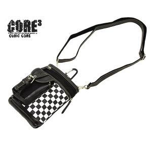 CORE(コア) シザーバッグ ミニショルダーバッグ ウエストバッグ 3WAY 3106 メンズ レディース 男女兼用|watermode