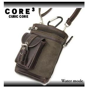 CORE(コア) シザーバッグ ミニショルダーバッグ ウエストバッグ 3WAY 3T22 メンズ|watermode